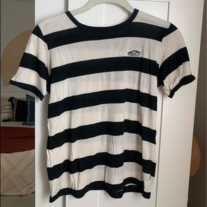 Vans black and white striped tee